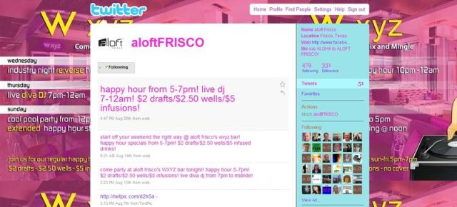 Aloft San Francisco Twitter Account