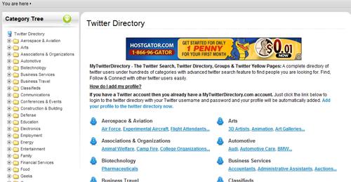 MyTwitterDirectory