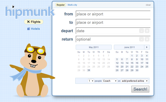 Hipmunk Website for Meeting and Event Planners