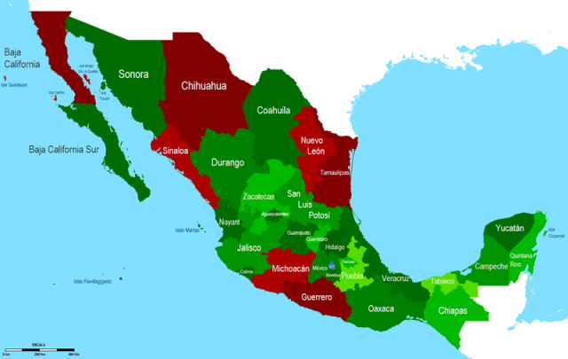 Mexico Violence Map for Meeting and Event Planners