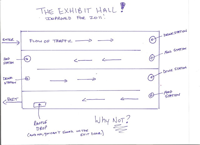 A Map of an Exhibit Hall
