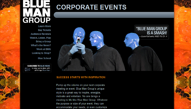The Blue Man Group for Corporate Events