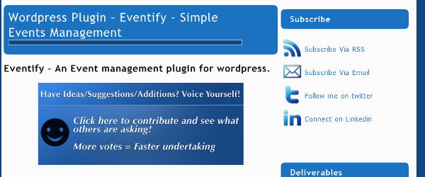 Eventify for WordPress
