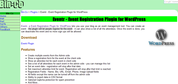 Eventr Plugin for WordPress