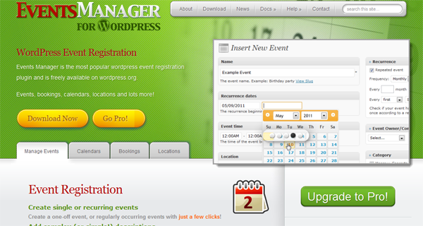 Events Manager 3.0 for WordPress