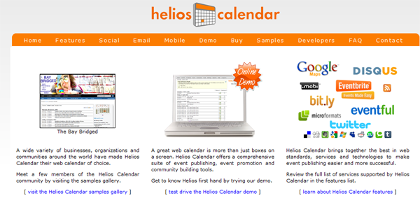 Helios Event Calendar for WordPress