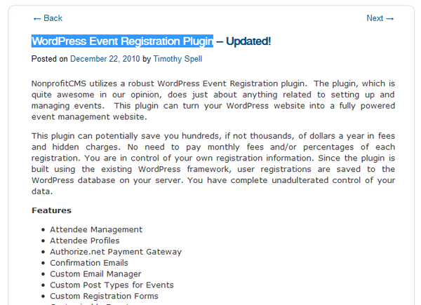 WordPress Event Registration Plugin