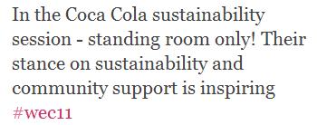 Coca Cola MPI WEC Tweet