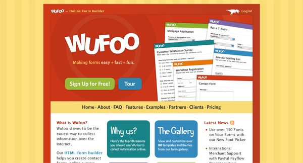 Wufoo online form builder meeting planners