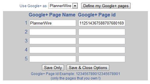 Google+ Page ID