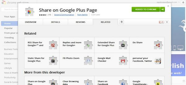 Add Google Page Share