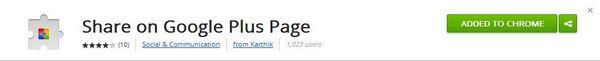 Add Google+ Page Share