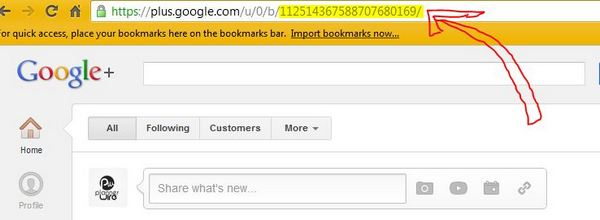 Find Your Google + ID Number