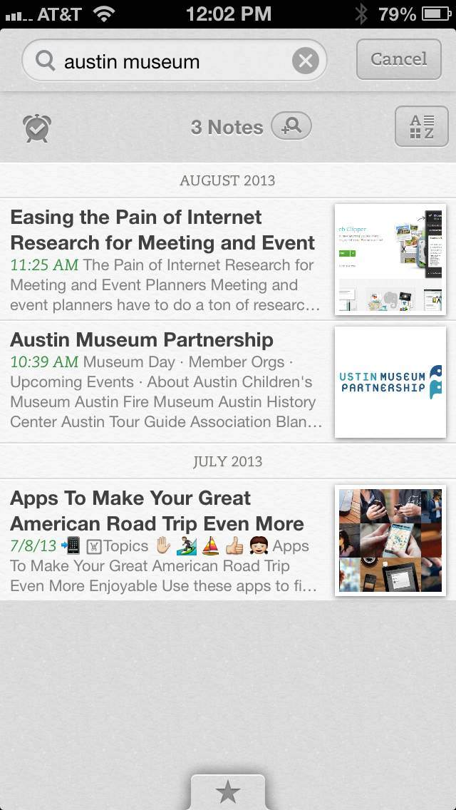 iPhone for Evernote Event Planning
